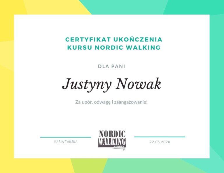 Certyfikat nordic walking warszawa